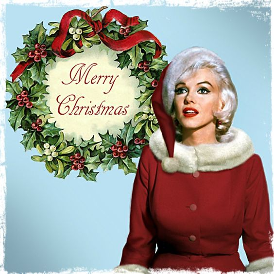 merry christmas...she has a strange expression on her face: