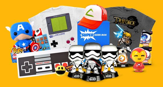 Epic Geek and Gamer subscription box of pop culture, collectible toys, and the best exclusive t-shirts, starting under $10 plus SH!