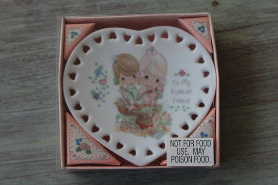 Precious Moments To My Forever Friend Heart Plate with Easel by YourUniqueFinds on Etsy