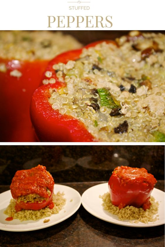 Easy and Delicious Stuffed Peppers. Vegetarian