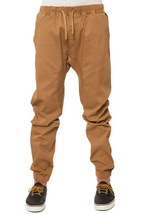 scout joggers twill cuff pants in khaki swag pinterest