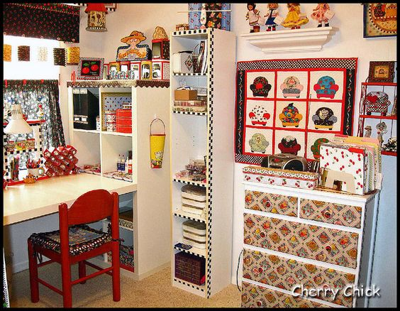 anything Mary Engelbreit: Scrapbook Room, Sewing Room, Hobby Rooms, Craftroom Maryengelbreit, Crafts Rooms, Craft Laundryroom, Engelbreit Style, Engelbreit Studio, Craft Rooms