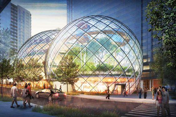 Así serán las oficinas futuristas de Amazon en Seattle