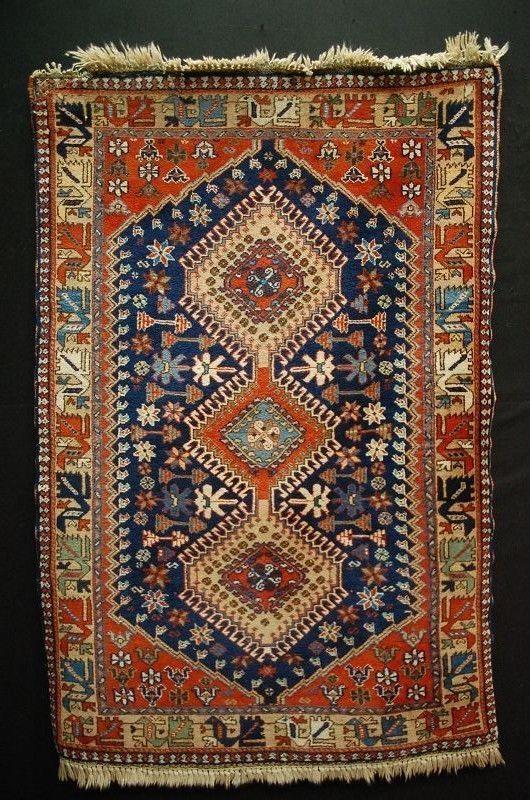 Old Yalameh Iran Handrug Ca 155x105cm Tapis Tappeto Persian Rug