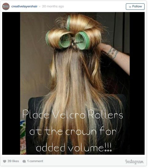 11. While you're getting ready to go out, use just two or three velcro rollers…
