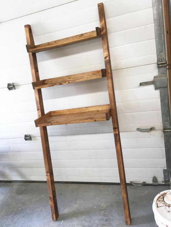 Bathroom Ladder Toilet Shelves And Ladder On Pinterest