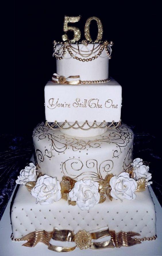 50th Anniversary Cakes Ideas - Wedding Cakes Designs Idea