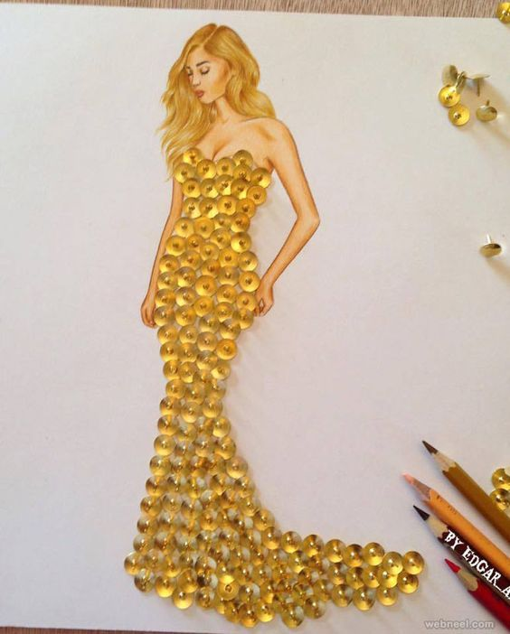 50 Creative And Funny Drawings And Artwork Ideas For Your Inspiration Fashion Illustration Dresses Fashion Design Sketches Fashion Design Drawings