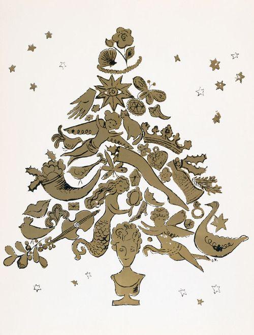 クリスマスツリー by アンディ・ウォーホル)
