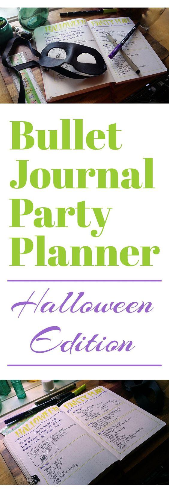Bullet Journal Party Planner - Let's Do Halloween! | Birthdays ...
