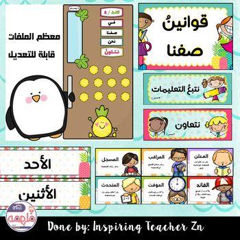 Tropical Classroom Decor ثيم الصف الاستوائي By Inspiring Teacher Zn Teachers Preschool Classroom Themes Math Activities Preschool Arabic Alphabet For Kids