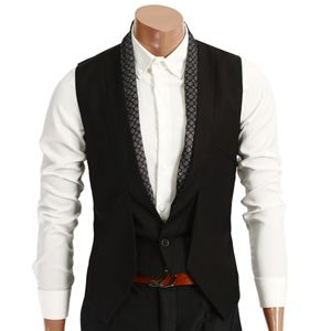Cool vest -- for a casual wedding look