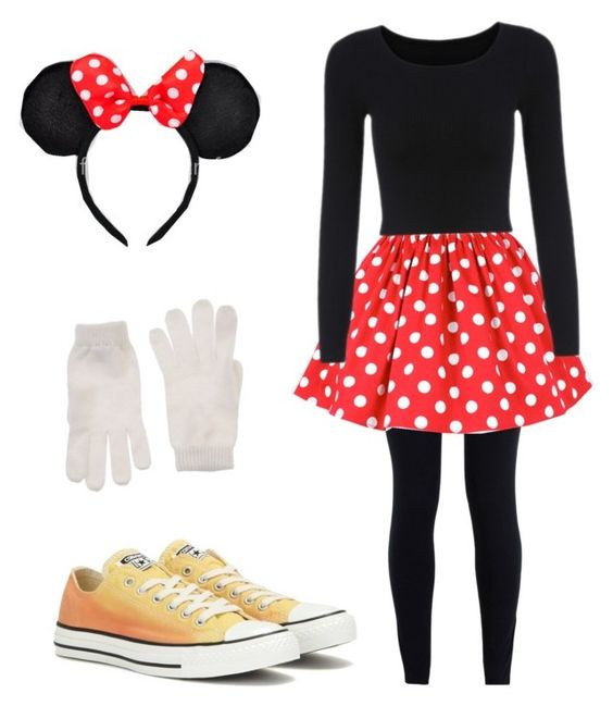"""Mini Mouse costume"" by connie-holboy on Polyvore featuring NIKE, Diesel and Converse"