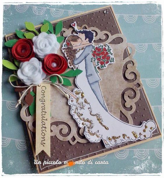 #Weddingcard #scrapbookingcard #stampingbella #unpiccolomondodicarta