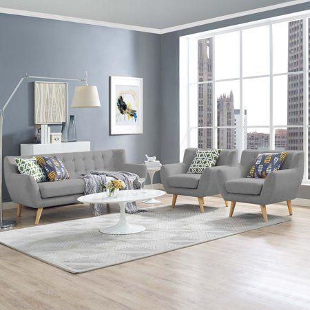Home 3 Piece Living Room Set Living Room Sets Living Room Grey