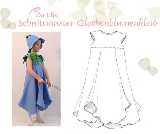 Kindermode - Schnittmuster Glockenblumenkleid - ein Designerstück von IdaElfe bei DaWanda