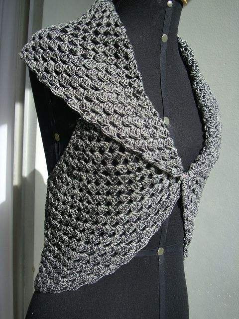 """No pattern, just pics, but you can see that it's just a big crocheted circle with a """"hole"""" in the middle. Could probably be hacked by an experienced needleworker. DSC03808 [1280x768] by Nadja Maria, via Flickr"""