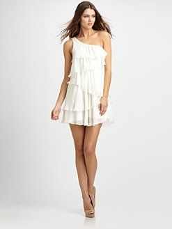 Jay Godfrey. Tiered Silk Mini Dress. LOVE