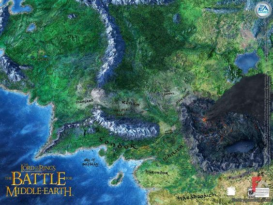 lord of the rings map of middle earth – Lord of the Rings Map of Middle Earth