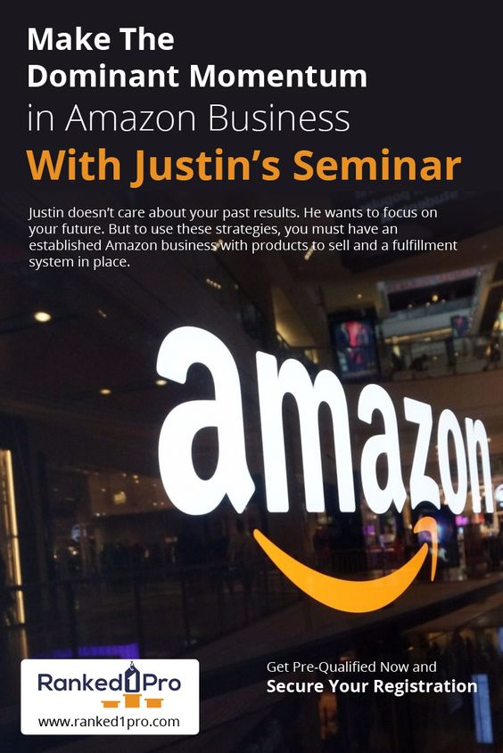 Justin doesn't care about your past results. He wants to focus on your future. But to use these #strategies, you must have an established #Amazon business with #products to sell and a fulfillment system in place.