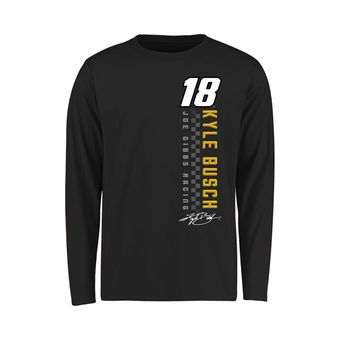 Youth Kyle Busch Black Finish Line Long Sleeve T-Shirt