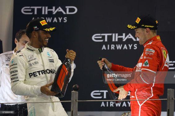 Fotografía de noticias : Second place finisher Lewis Hamilton of Great...