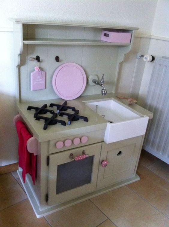 Keuken Van Steigerhout Zelf Maken : kinderkeuken zelf maken – Google zoeken – knutselen Pinterest