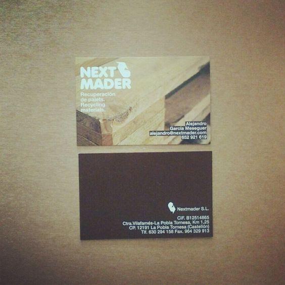 Diseño de logo y tarjetas de visita para Nextmader