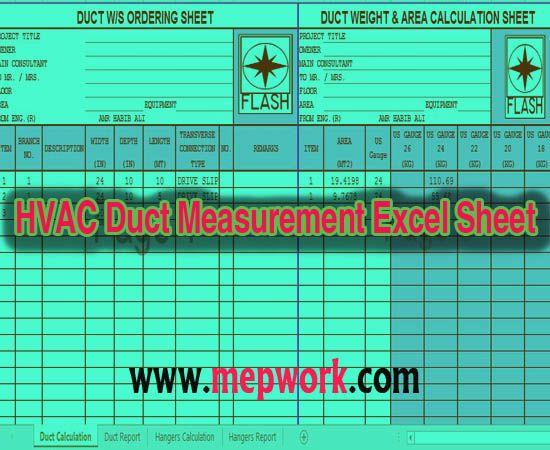Download Hvac Duct Measurement Excel Sheet Xls Hvac Duct Hvac Duct