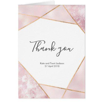 Ava Simple Wedding Thank You Postcard Geometric Thank You Postcard Template Minimal DIY Thank You Card Printable Thank You Card