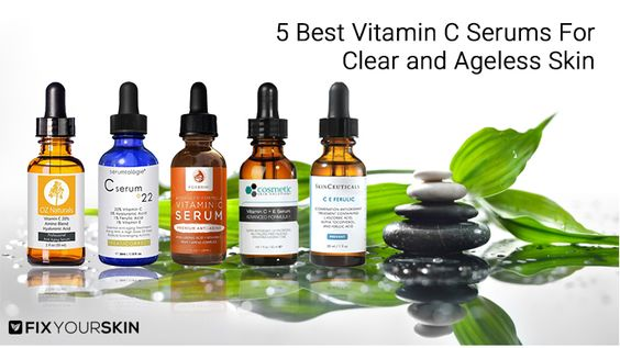 When it comes to the best anti-aging skin solutions, vitamin c serum is right  #vitaminserum #skincare #fixyourskin #vitaminc