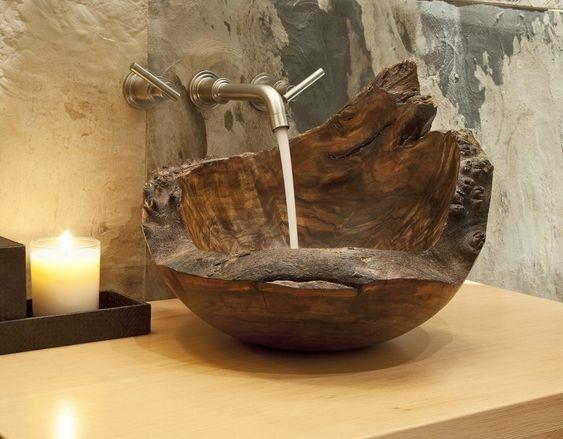 meuble bois massif vier trs chic pour la salle de bains - Meuble Salle De Bain Bois Massif