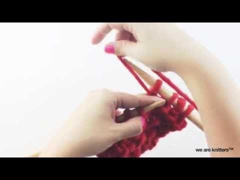 Aprende a tejer el punto arena - Cómo tejer - YouTube