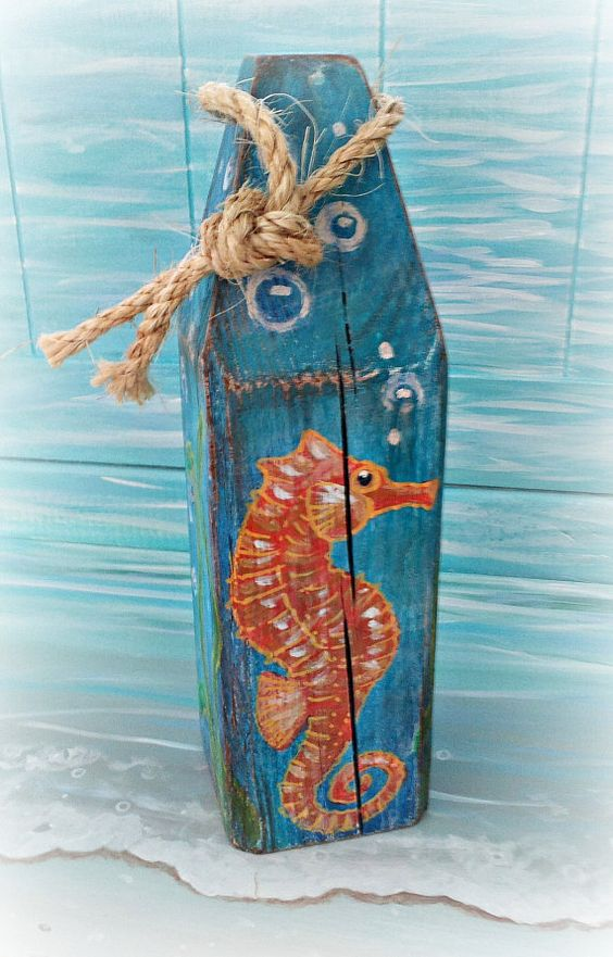 Decorative buoy   nautical buoy   wooden buoy   painted buoy ...