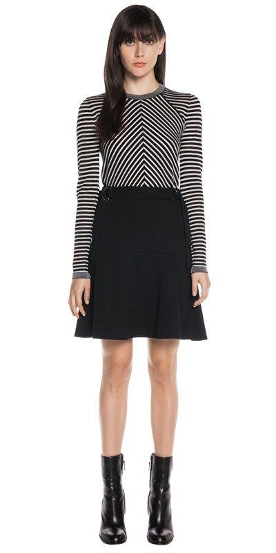 Skirts | Double Knit Flare Hem Skirt