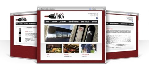 Entre Vinos #website design