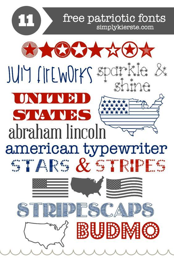 4th of july font