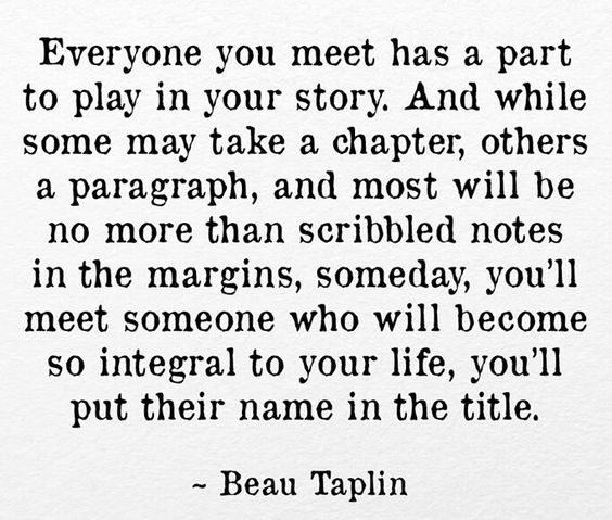 The story is yours and yours alone.  Those people will always play their roles and what you learn from them sets the story in motion.