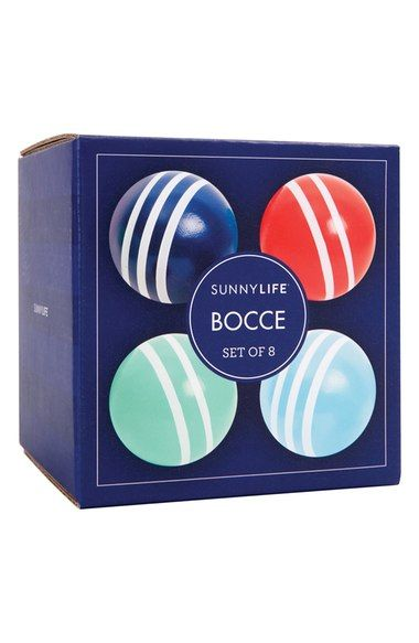 colorful bocce ball set