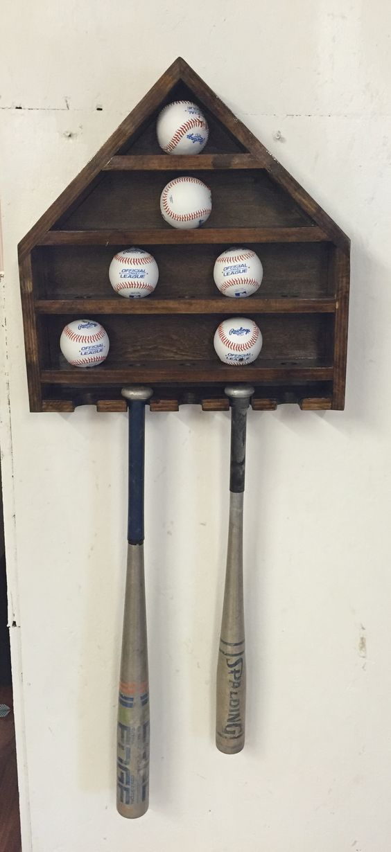 Baseball display shelf.