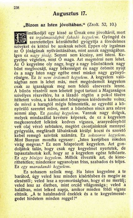08.17. Spurgeon: Harmatgyöngyök