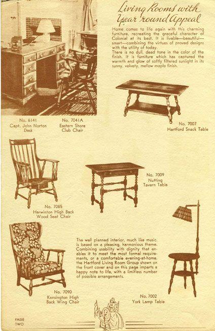 Cushman furniture catalog from 1937 | Cushman furniture ...