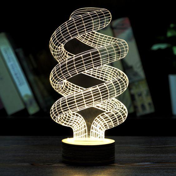 Creative 3D Bedroom Lights
