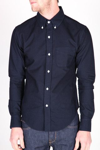 midnight long sleeve button down, Band of Outsiders, Machus, made in the USA, button down – machus