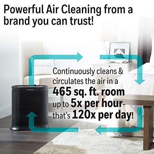 Honeywell Hpa300 True Hepa Air Purifier Extra Large Room Black In 2020 Air Purifier Hepa Air Purifier Purifier