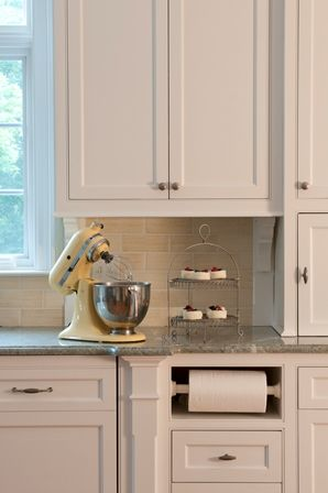 Paper Towel Holder in Kitchen Cabinets