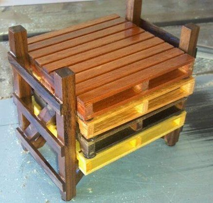 Pallet coasters with pallet rack