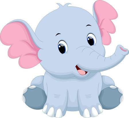 Lindo Bebé De Dibujos Animados De Elefantes Baby Elephant Cartoon Cartoon Elephant Cute Elephant Cartoon