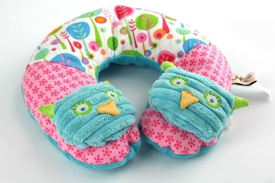 Owl travel pillow.