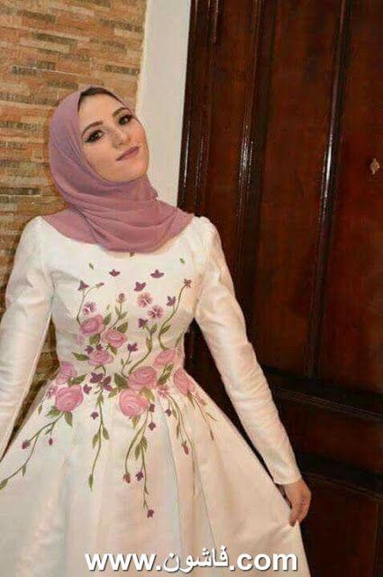 فساتين سواريه للمحجبات المراهقات 2018 Hijab Dress Party Soiree Dress Stylish Party Dresses